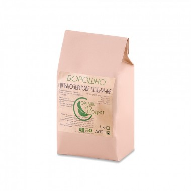 Wholegrain wheat flour natural Organic Eco-Product, 500 g