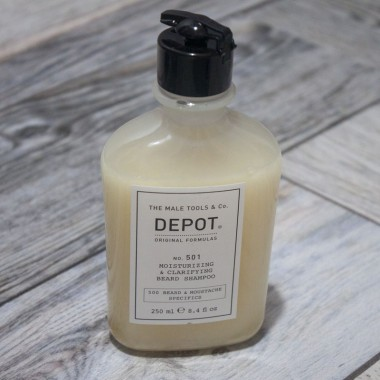 Увлажняющий и очищающий шампунь для бороды Depot 501, 250 мл