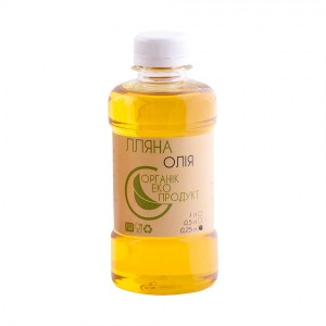 Linseed oil cold pressed Organic Eco-Product, 250 ml