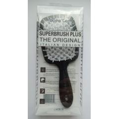 Hollow Comb Superbrush Plus hairbrush (black cloud)