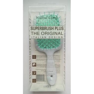Hollow Comb Superbrush Plus hairbrush (white turquoise)