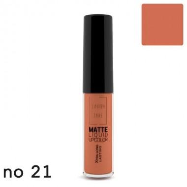 Матова рідка помада Lavish Care Matte Liquid Lipcolor - Xtra Long Lasting №21, 6 мл