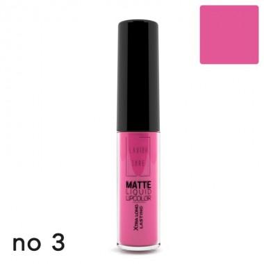 Матова рідка помада Lavish Care Matte Liquid Lipcolor - Xtra Long Lasting №3, 6 мл