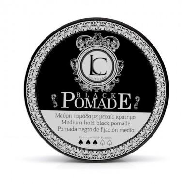Помада (черная) для стайлинга волос Lavish Care Black Pomade Medium hold black pomade, 100 мл