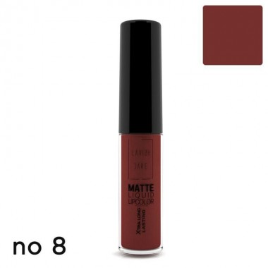 Матовая жидкая помада Lavish Care Matte Liquid Lipcolor - Xtra Long Lasting №8, 6 мл