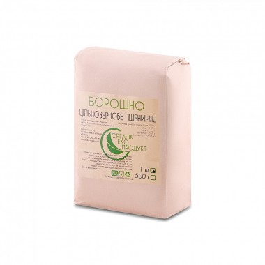 Wholegrain wheat flour natural Organic Eco-Product, 1 kg