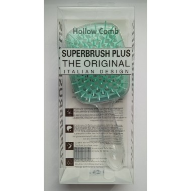Гребінець для волосся Hollow Comb Superbrush Plus (невидима бірюза)