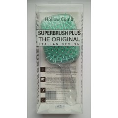 Hollow Comb Superbrush Plus hairbrush (invisible turquoise)