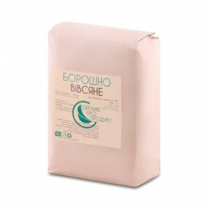 Natural oat flour Organic Eco-Product, 1 kg