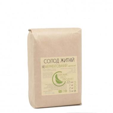 Rye malt not fermented white Organic Eco-Product, 5 kg