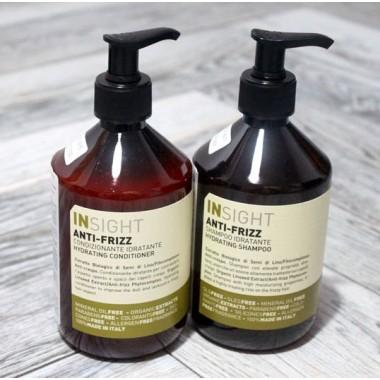 Набор шампунь + кондиционер  Увлажняющий для волос Insight (Италия) Anti-Frizz, 2х400 мл