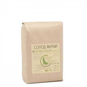 Rye malt not fermented white Organic Eco-Product, 500 g