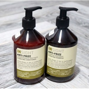 Anti-Frizz Hair Hydrating Shampo + Conditioner Insight (Italy), 2x400 ml