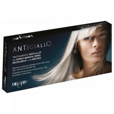 Ампульное средство против пожелтения осветленных, обесцвеченных, мелированных и седых волос Dikson Trattamento Antigiallo, 12*12 мл