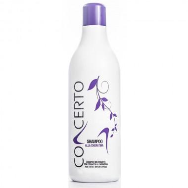 Восстанавливающий шампунь с кератином Punti di Vista Concerto Keratin Based Shampoo, 1000 мл