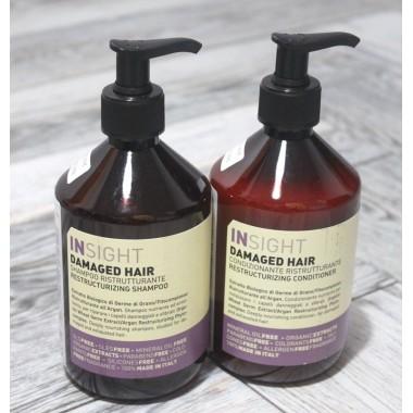 Набор шампунь + кондиціонер Відновлюючий Insight (Італія) Damaged Hair, 2х400 мл