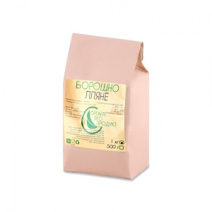 Natural linseed flour Organic Eco-Product, 1 kg